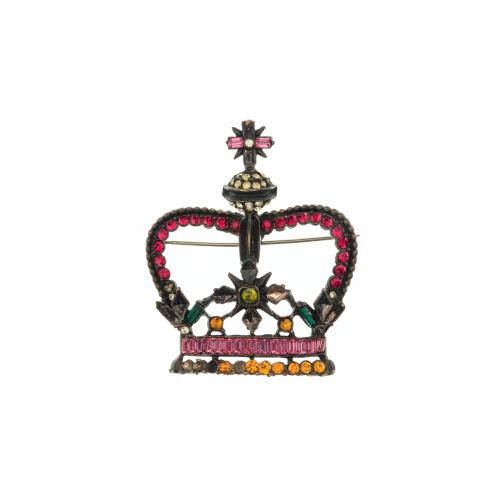 Russian Crown Brooch