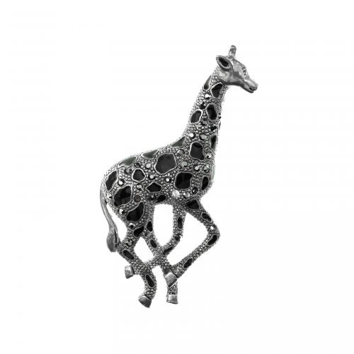 Marcasite Giraffe Brooch
