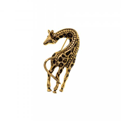 Giraffe Enamel Brooch
