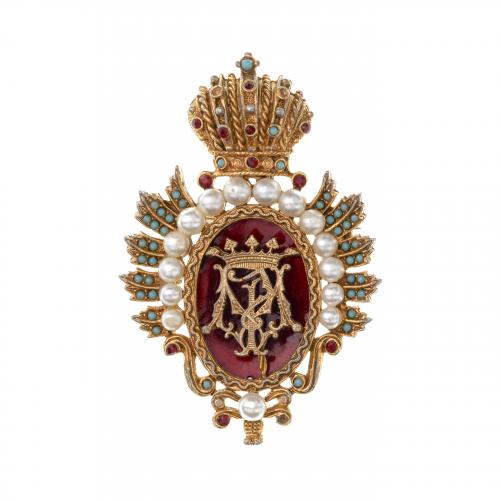 Heraldic Crest Brooch