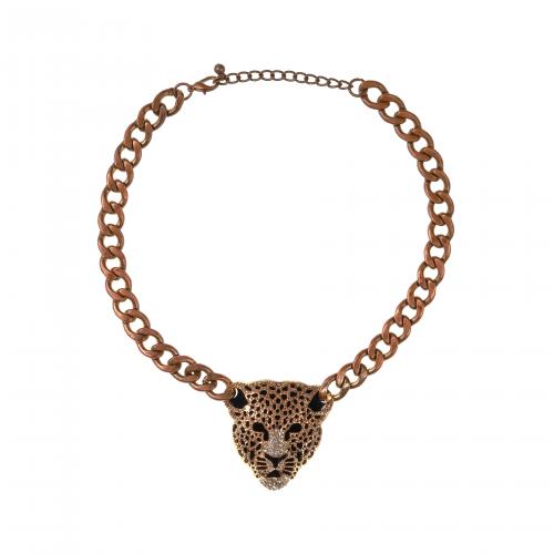 Rhinestone Lion Necklace