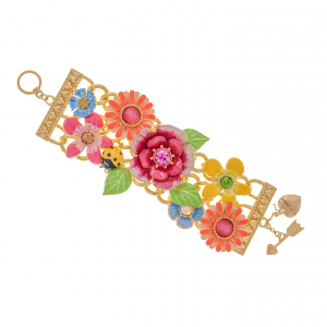 Enamel Flower Bracelet