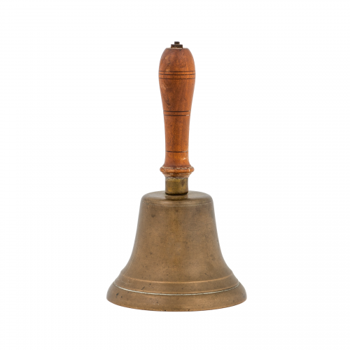 antique brass handbell