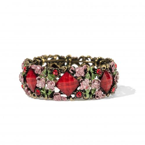 Enamel French Style Cuff Bracelet