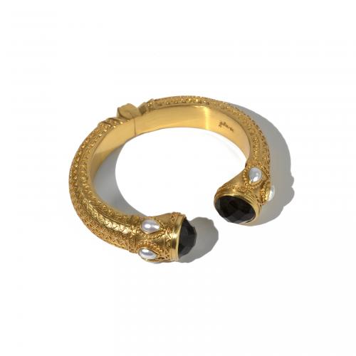 Byzantine Hinge Cuff Bracelet