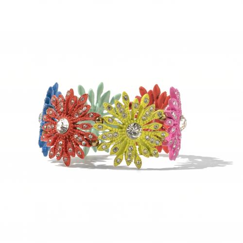 rhinestone flower braclet