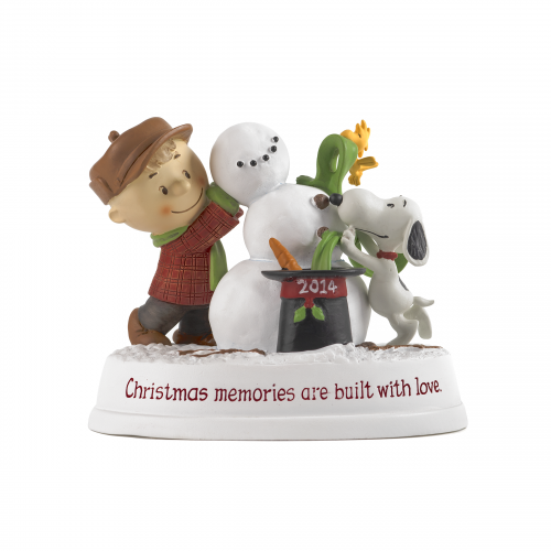Snoopy and Charlie Brown Snowman Figurine