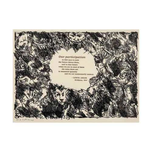 Abstract Poetry Art Print