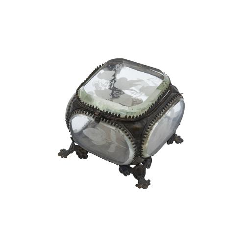 Victorian Glass Trinket Box