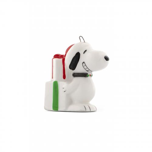 Happy Snoopy Santa Christmas Ornament