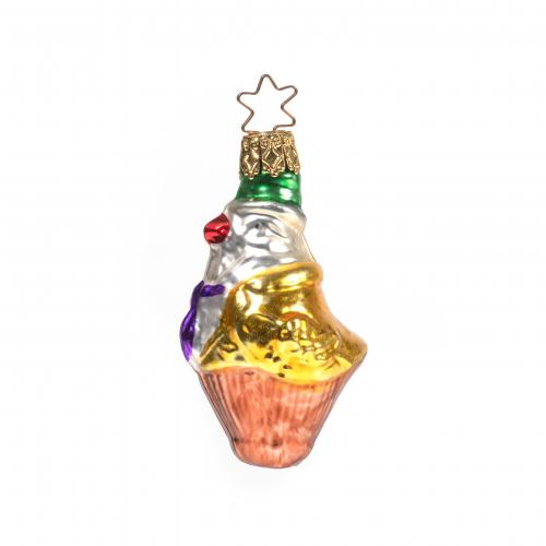 Vintage Mercury Glass Parrot Ornament