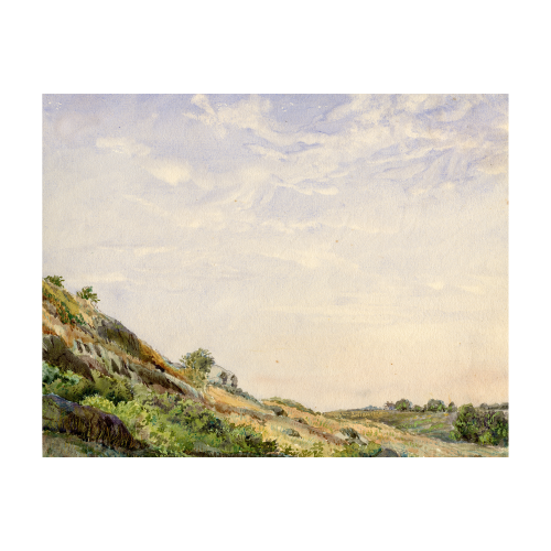 American Landscape Watercolor Painting