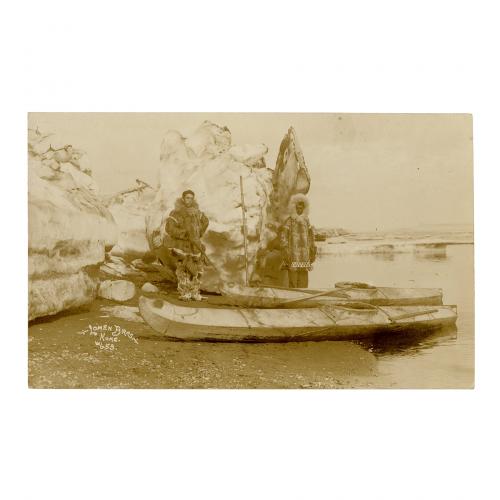 Eskimo Alaskan Boat Photograph