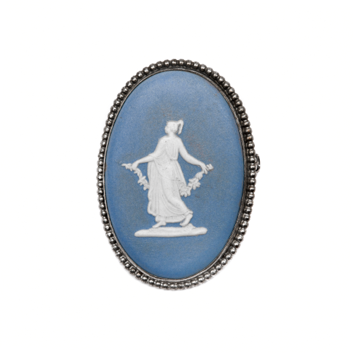 Wedgwood Oval Brooch