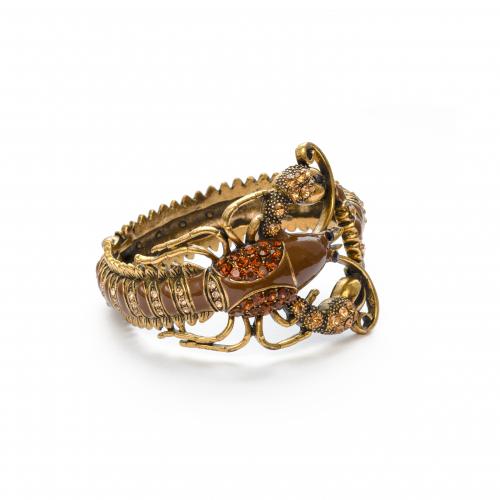 Rhinestone Enamel Lobster Bangle