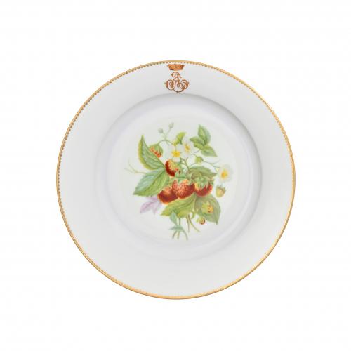 Sevres Porcelain Strawberry Plate