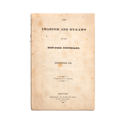 The Charter and By-Laws of the New York Dispensary 1830