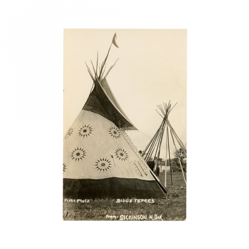 Sioux Tepees Postcard Photograph