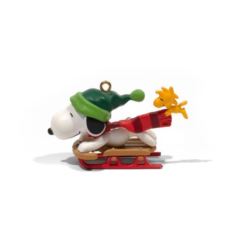 Sledding Snoopy Christmas Ornament
