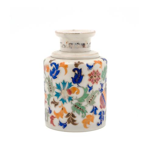 Russian Glass Bottle Jar