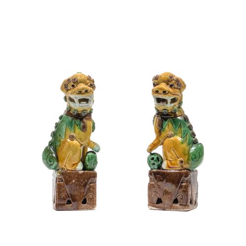 Chinese Buddhist Lion Statues