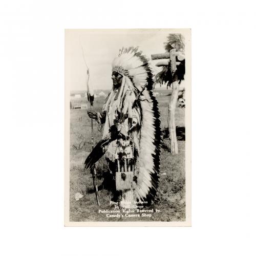 Pine Ridge Indians In Full Dress Postcard