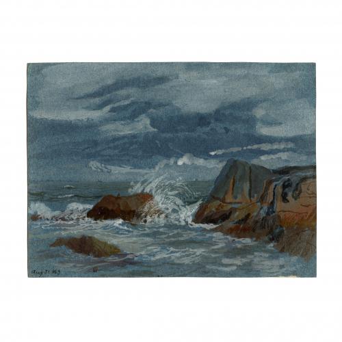 Rock Watercolor Painting