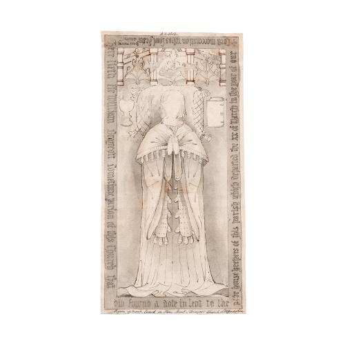 English tomb drawing