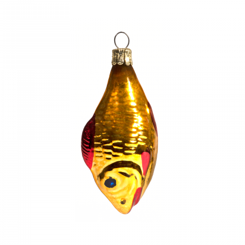 Vintage Mercury Glass Fish Ornament