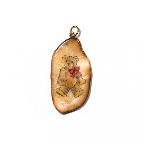 Teddy Bear Agate Pendant