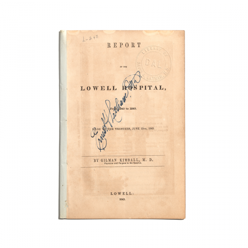 Report of the Lowell Hospital 1840-1849