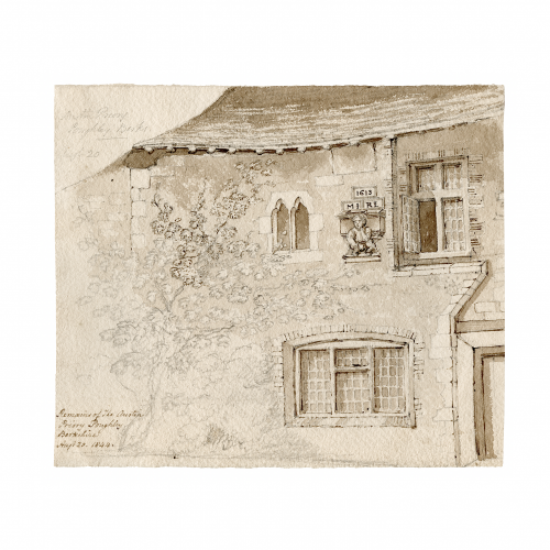 Poughley Priory drawing