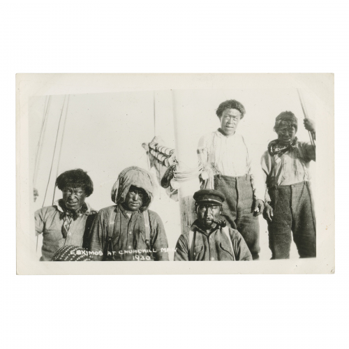 Eskimos at Churchhill Manitoba Photograph