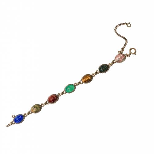 Hardstone Scarab Bracelet