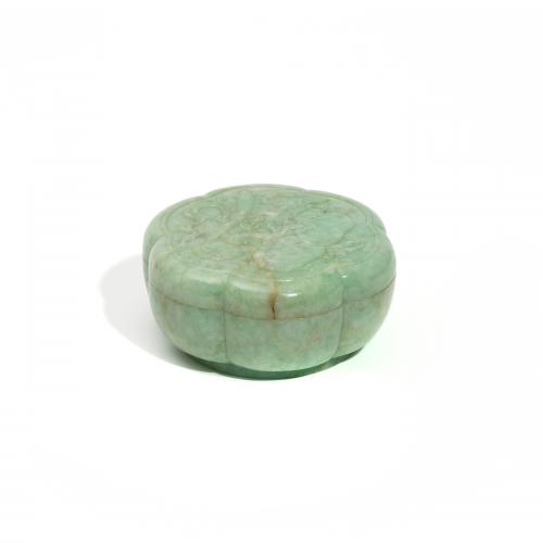 Antique Chinese Jadeite Box