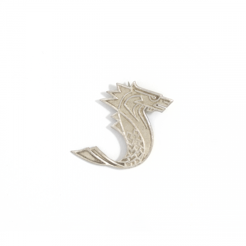 Silver Sea Monster Pin