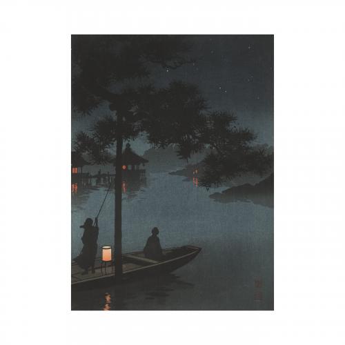 Starry Night Woodblock Print