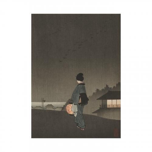 Japanese Evening Woodblock Print