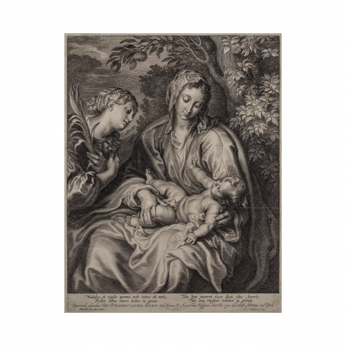 Madonna and Child with St Catherine art print