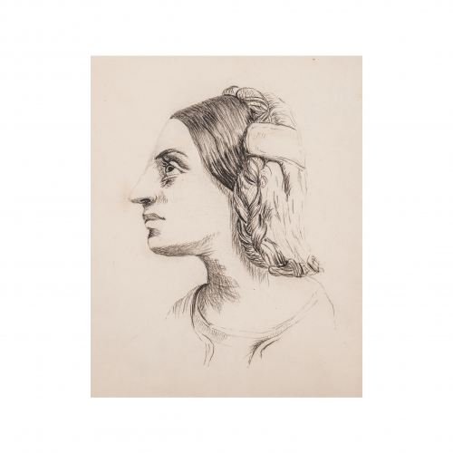 Head of a Woman Drawing