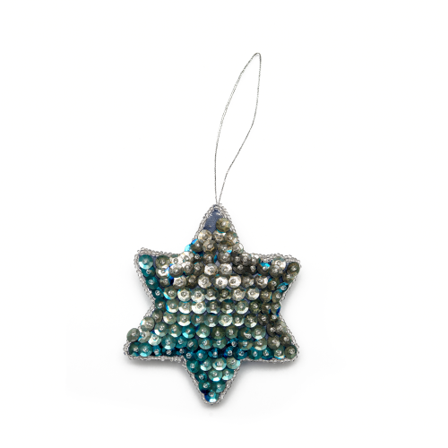Vintage Sequins Star Christmas Ornament