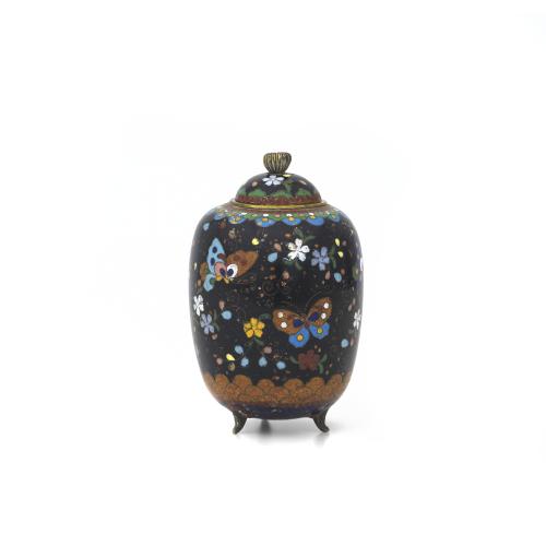 Japanese Cloisonne Lidded Jar