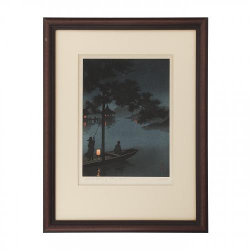 Lake Biwa by stary night by Shoda Koho