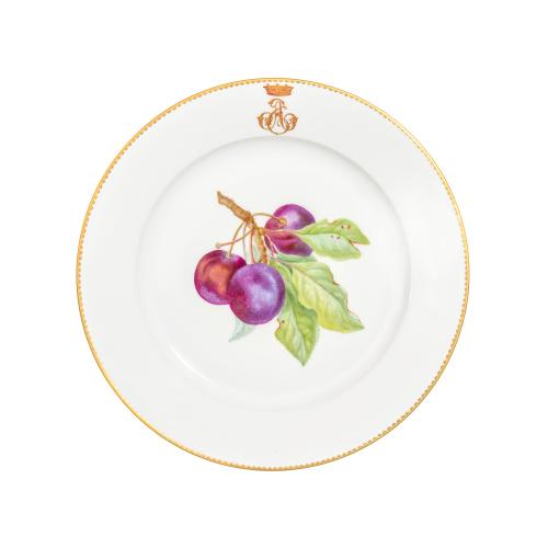 Sevres Porcelain Plum Plate