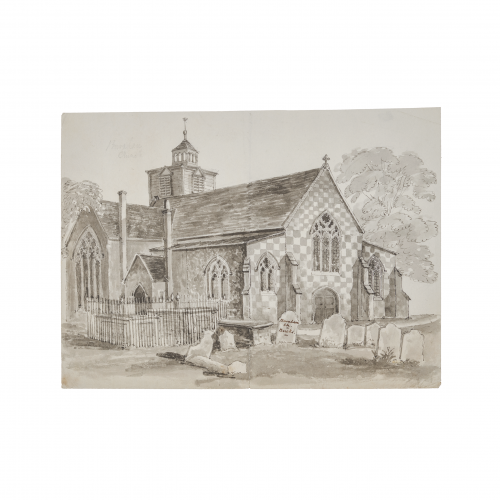 Burnham Church Watercolor Painting