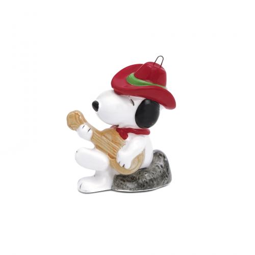 Guitar Snoopy Christmas Ornament