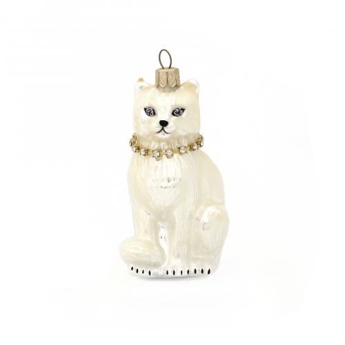 Glamour Cat Christmas Ornament
