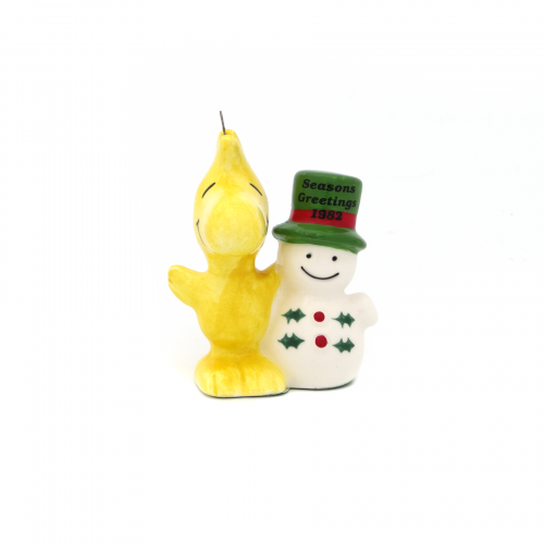 Woodstock and Snowman Christmas Ornament
