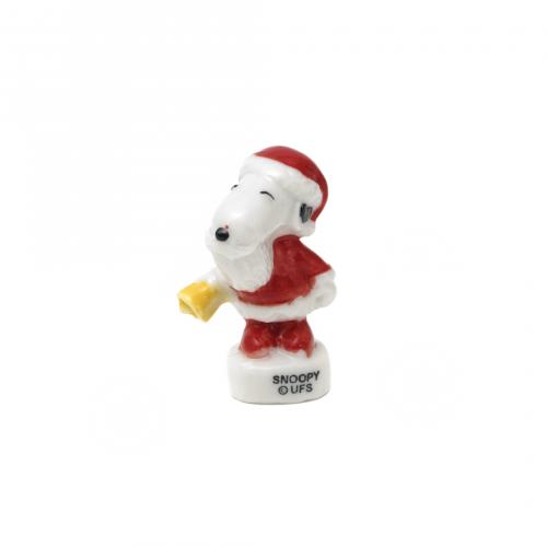 Miniature Snoopy Santa Figurine