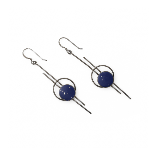 Lapis and Silver Vintage Earrings